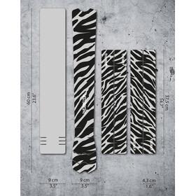 DYEDBRO Zebra Kit di Protezione del Telaio, trasparente/nero